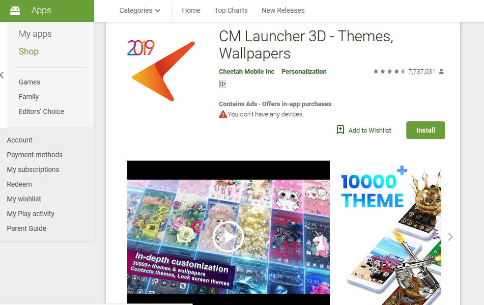 cm launcher - best themes for android