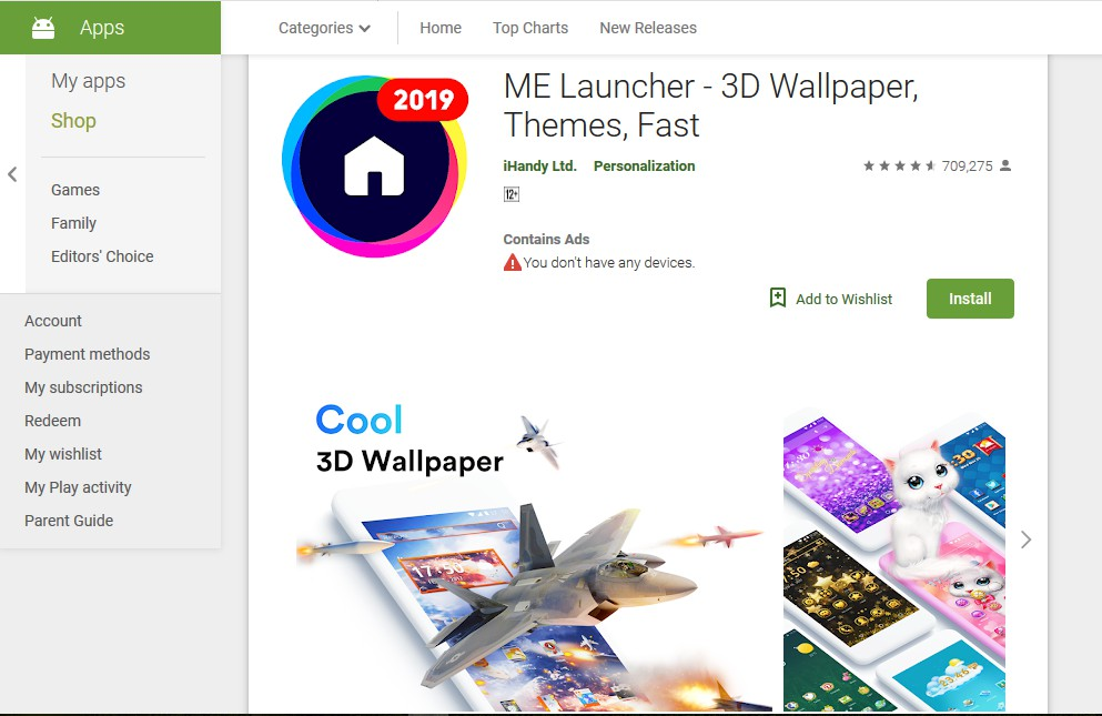 me launcher - best themes for android
