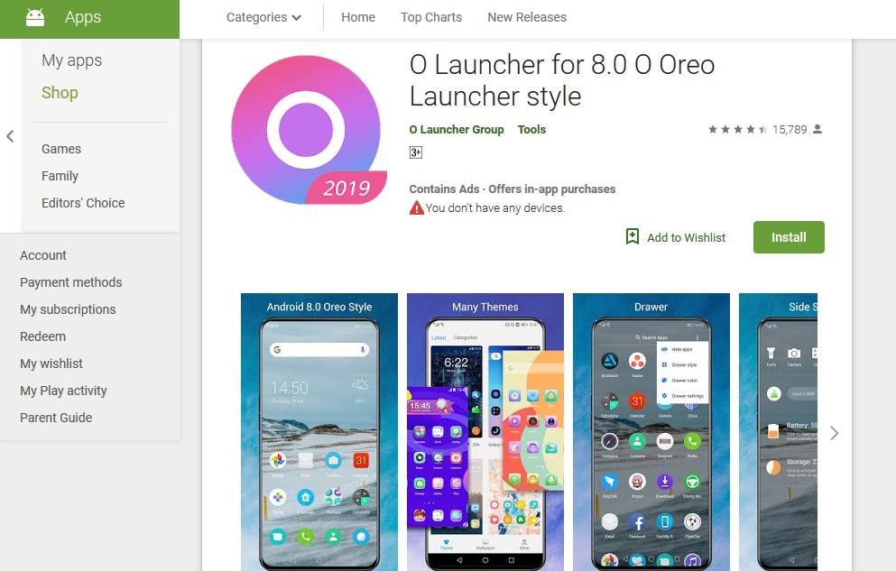 o launcher - best themes for android