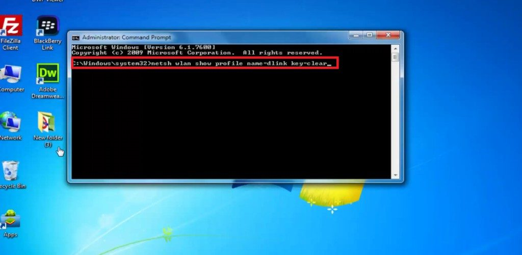 how to find wifi password on windows 7