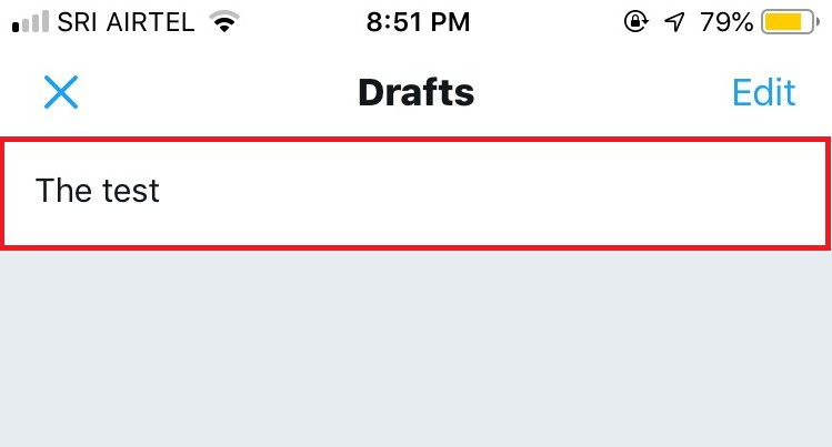 where are my drafts on twitter