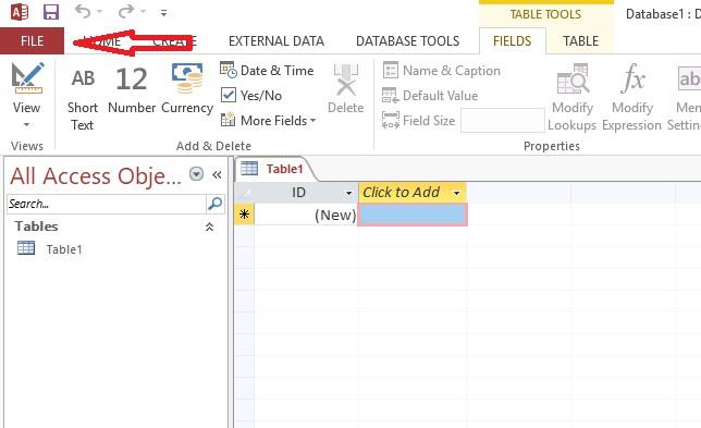 unrecognized database format
