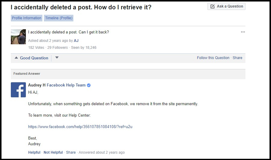 how to retrieve deleted post on facebookhow to retrieve deleted post on facebook